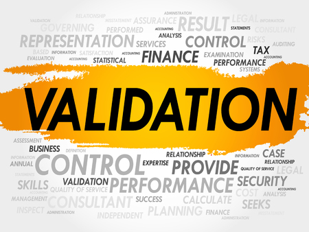 findings: VALIDATION word cloud, business concept Illustration