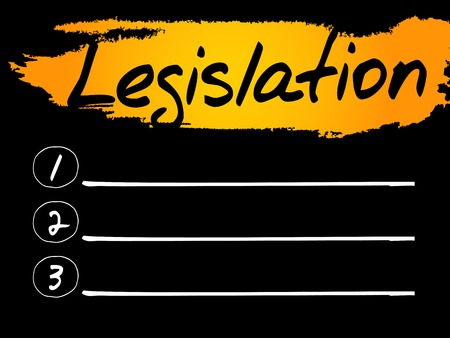 Legislation Blank List concept background