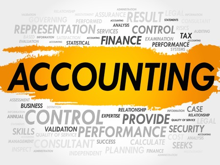 accounts payable: ACCOUNTING word cloud, business concept Illustration