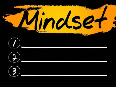 manners: Mindset Blank List concept background