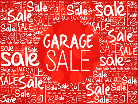 GARAGE SALE word cloud background, business concept