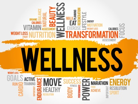 WELLNESS word cloud, fitness, sport, health concept 版權商用圖片 - 48465746