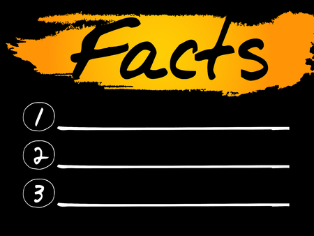 misleading: Facts Blank List concept background