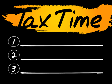 time account: Tax Time Blank List concept background Illustration