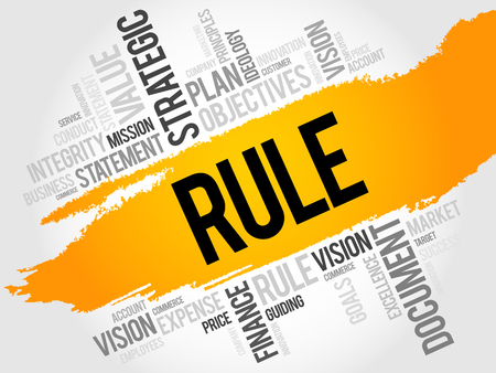 rule: Rule word cloud, business concept