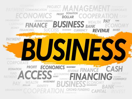 charismatic: BUSINESS word cloud concept