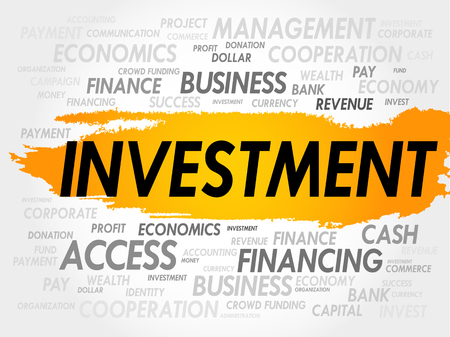 installment: INVESTMENT word cloud, business concept