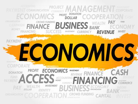 behavioral: ECONOMICS word cloud, business concept