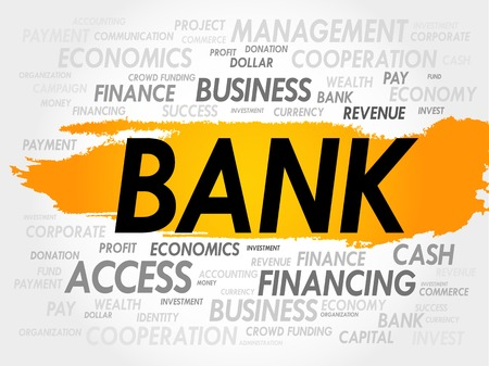 interst: BANK word cloud, business concept