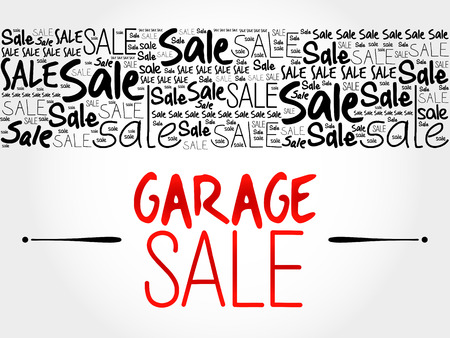 garage: GARAGE SALE word cloud background