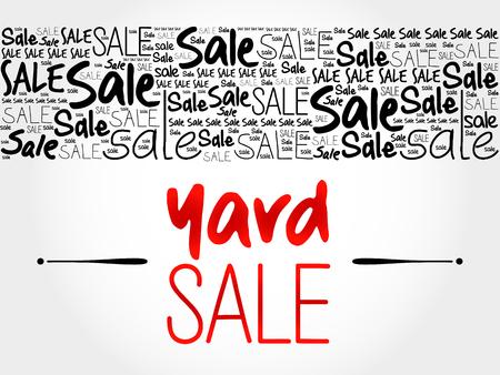 yard sale: YARD SALE word cloud background, business concept
