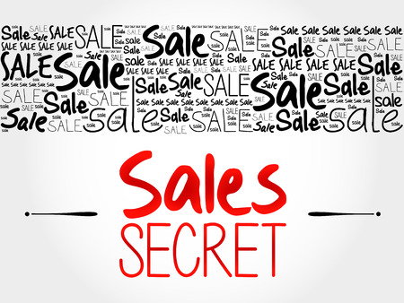 secret word: Sales Secret word cloud background, business concept