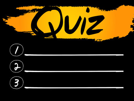 interrogate: Quiz Blank List, vector concept background Illustration
