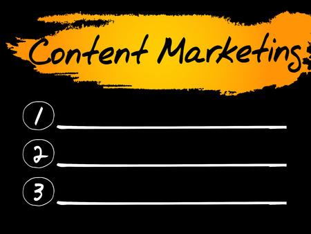 meta: Content Marketing Blank List, vector concept