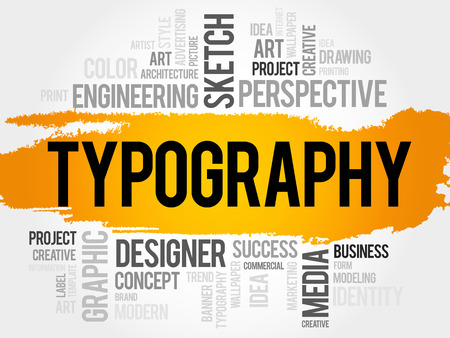 recognition: TYPOGRAPHY word cloud, business concept