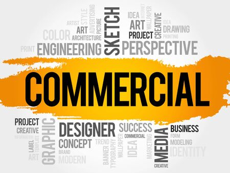 marketer: COMMERCIAL word cloud, business concept