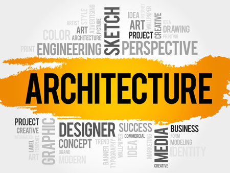 postmodern: Architecture word cloud concept