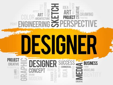 disciplines: DESIGNER word cloud concept