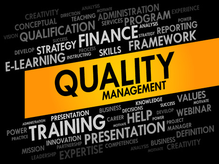 product quality: Quality Management word cloud, business concept