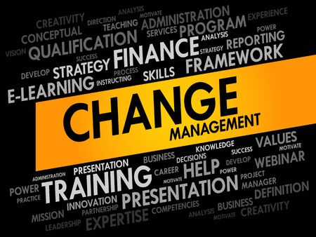 adapting: Change Management word cloud, business concept