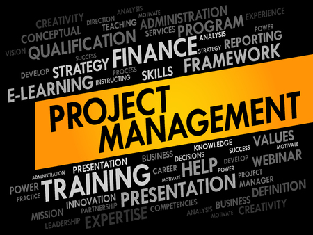 estimating: Project Management word cloud, business concept Illustration