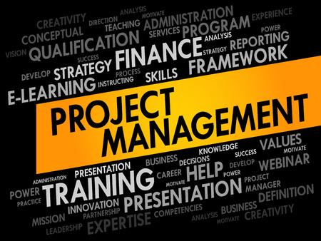 estimating: Project Management word cloud, business concept Illustration