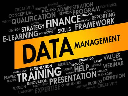 data management: Data Management word cloud, business concept Illustration