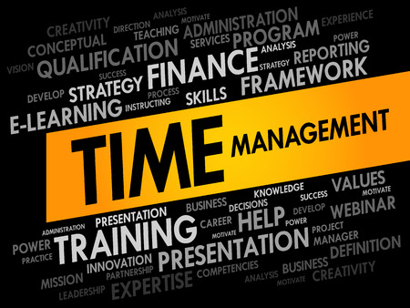 scheduling system: Time Management word cloud, business concept