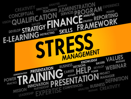 potentially: Stress Management word cloud, business concept Illustration