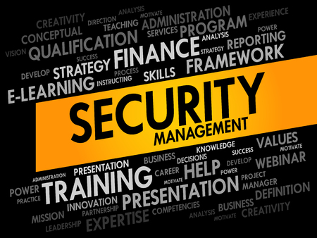 process management: Security Management word cloud, business concept Illustration