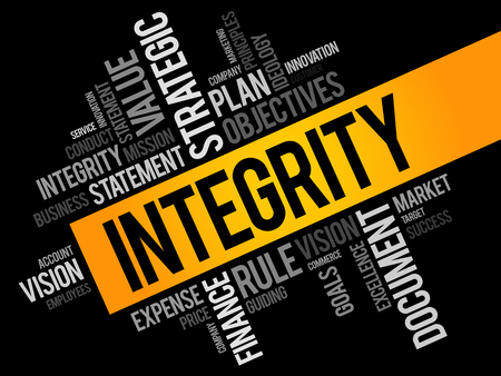 absolute: Integrity word cloud, business concept