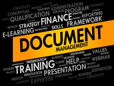 document management: Document Management word cloud, business concept