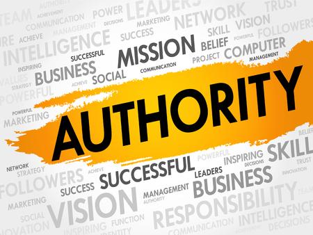 and authority: AUTORIDAD nube de la palabra, concepto de negocio