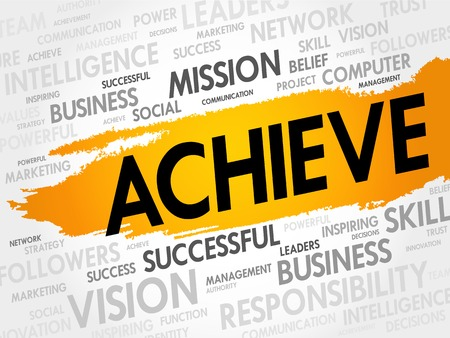 achiever: ACHIEVE word cloud, business concept