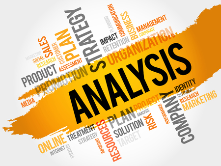 optimal: Word Cloud with Analysis related tags, business concept