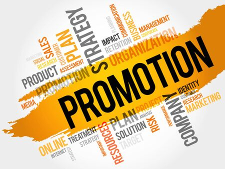 retailing: Word Cloud with Promotion related tags, business concept
