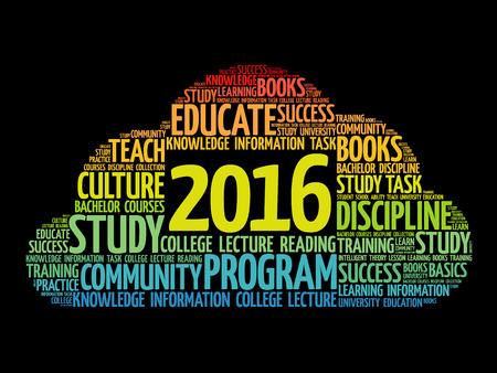 ability to speak: 2016 Education word cloud business collage, concept background
