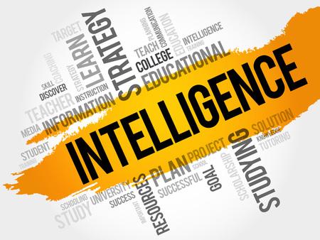 Intelligence word cloud, education concept Illustration