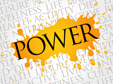 POWER word cloud, health concept Illustration