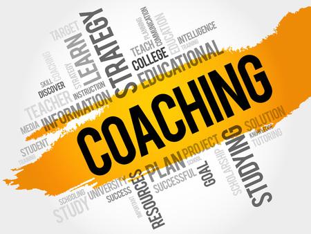 career coach: COACHING word cloud, education concept