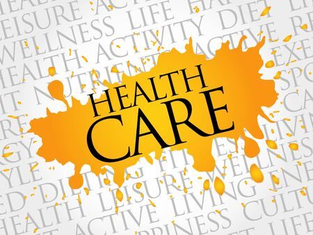 surgery expenses: Health care word cloud, health concept Illustration