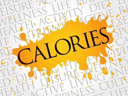 regime: CALORIES word cloud, fitness, sport, health concept