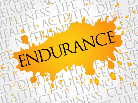 endurance: ENDURANCE word cloud, fitness, sport, health concept
