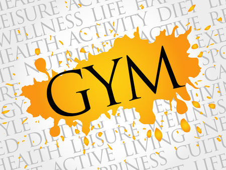 consonance: Gym word cloud, health concept