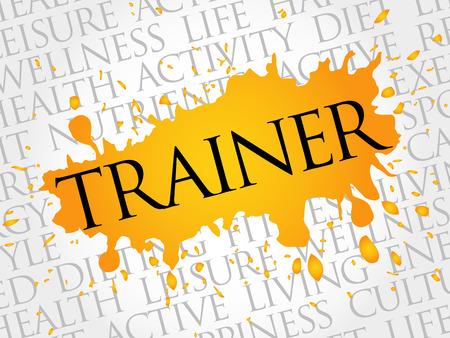 healthcare facilities: Trainer word cloud, health concept Illustration