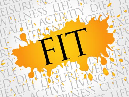 consonance: Fit word cloud, health concept