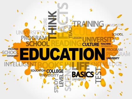 enlightenment: EDUCATION word cloud concept