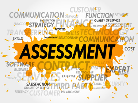 business continuity: ASSESSMENT word cloud, business concept