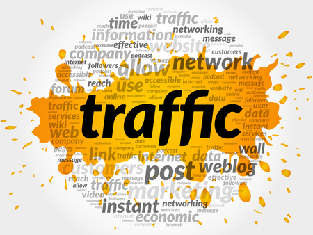 meta: TRAFFIC word cloud, business concept Illustration