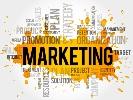 communicator: Marketing word cloud, business concept
